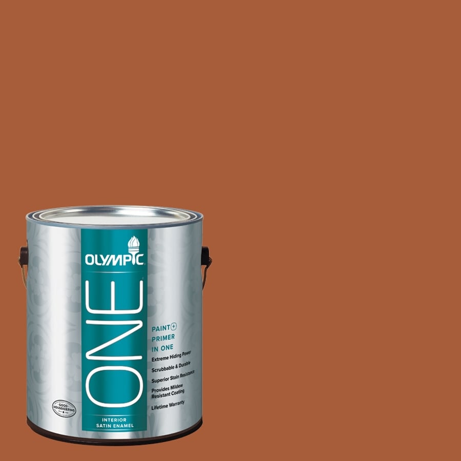 Olympic ONE Fragrant Cloves Satin Latex Interior Paint and Primer In One (Actual Net Contents: 114-fl oz)