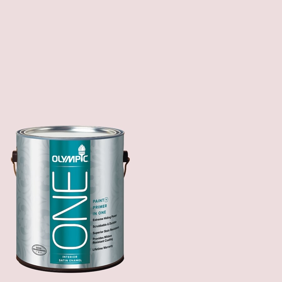 Olympic ONE Ballerina Satin Latex Interior Paint and Primer In One (Actual Net Contents: 124-fl oz)