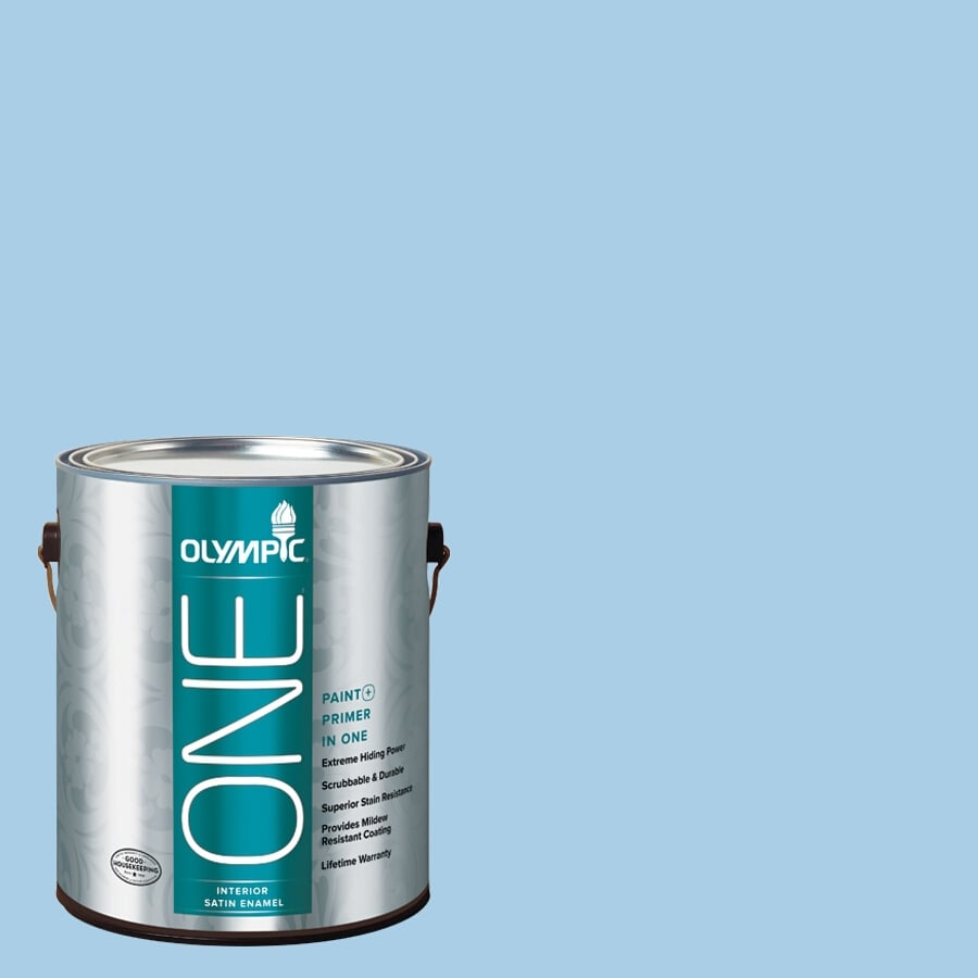 Olympic ONE Spa Satin Latex Interior Paint and Primer In One (Actual Net Contents: 124-fl oz)