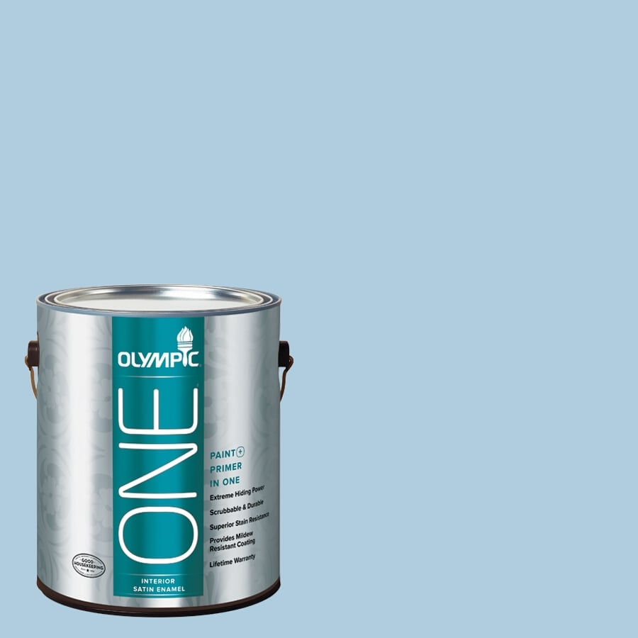 Olympic ONE Serenity Satin Latex Interior Paint and Primer In One (Actual Net Contents: 124-fl oz)