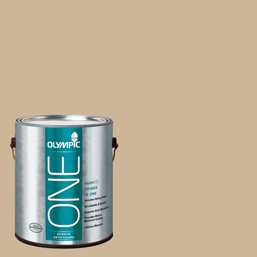 Olympic ONE Spiced Vinegar Satin Latex Interior Paint and Primer In One (Actual Net Contents: 124-fl oz)