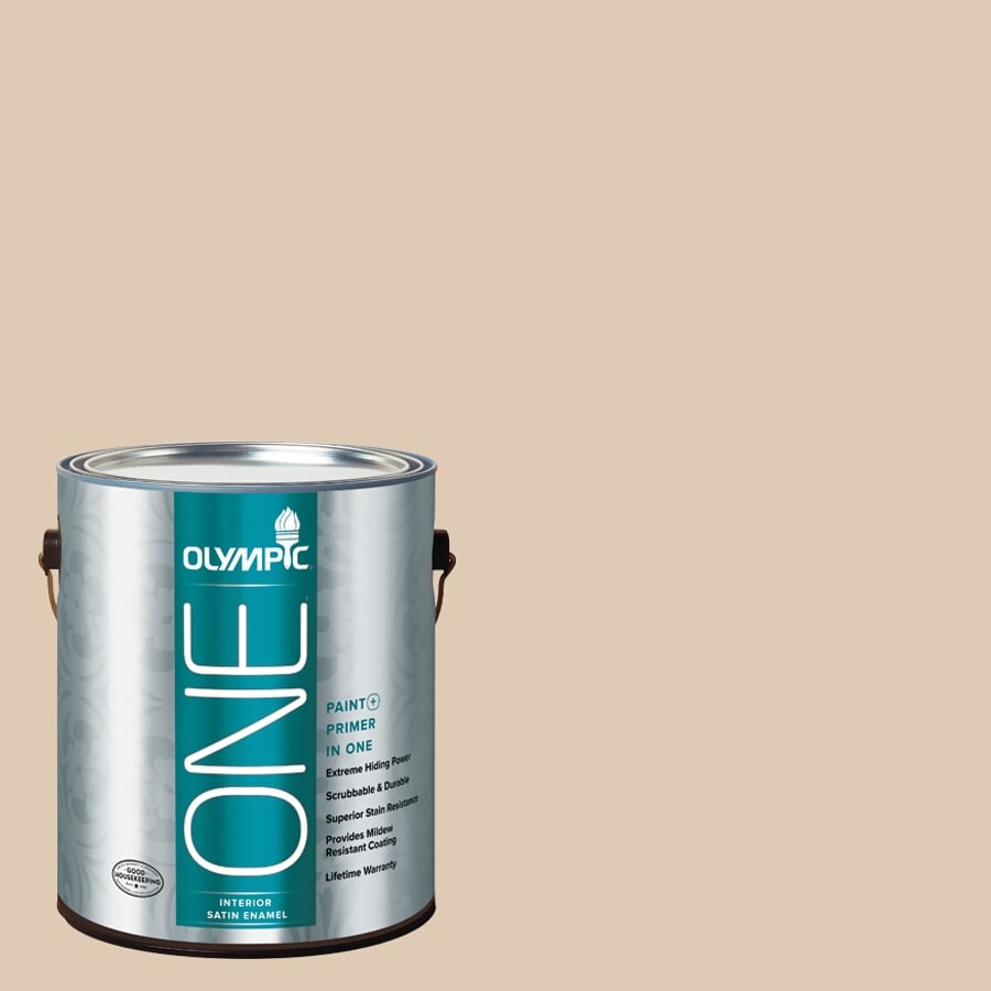 Olympic ONE Chalkware Satin Latex Interior Paint and Primer In One (Actual Net Contents: 124-fl oz)