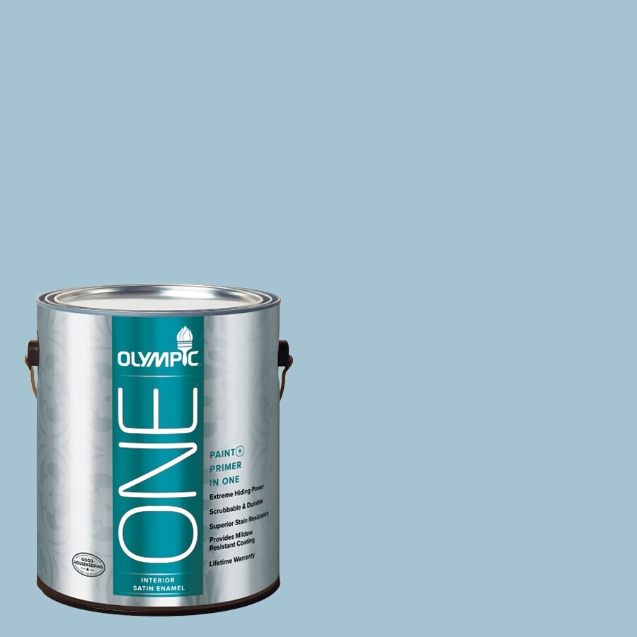 Olympic ONE Souvenir Satin Latex Interior Paint and Primer In One (Actual Net Contents: 124-fl oz)