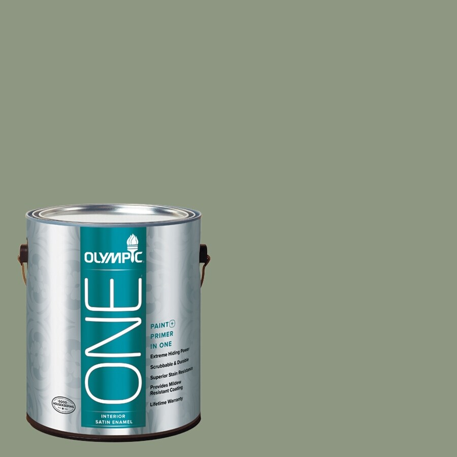 Olympic ONE Pacific Pine Satin Latex Interior Paint and Primer In One (Actual Net Contents: 116-fl oz)
