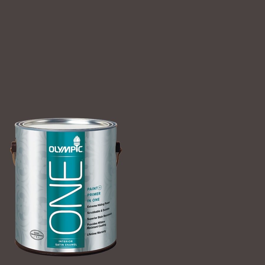 Olympic ONE Phantom Mist Satin Latex Interior Paint and Primer In One (Actual Net Contents: 114-fl oz)