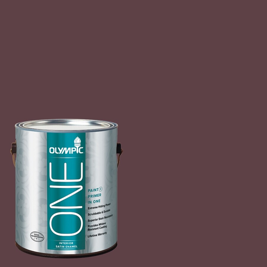 Olympic ONE Gooseberry Satin Latex Interior Paint and Primer In One (Actual Net Contents: 114-fl oz)