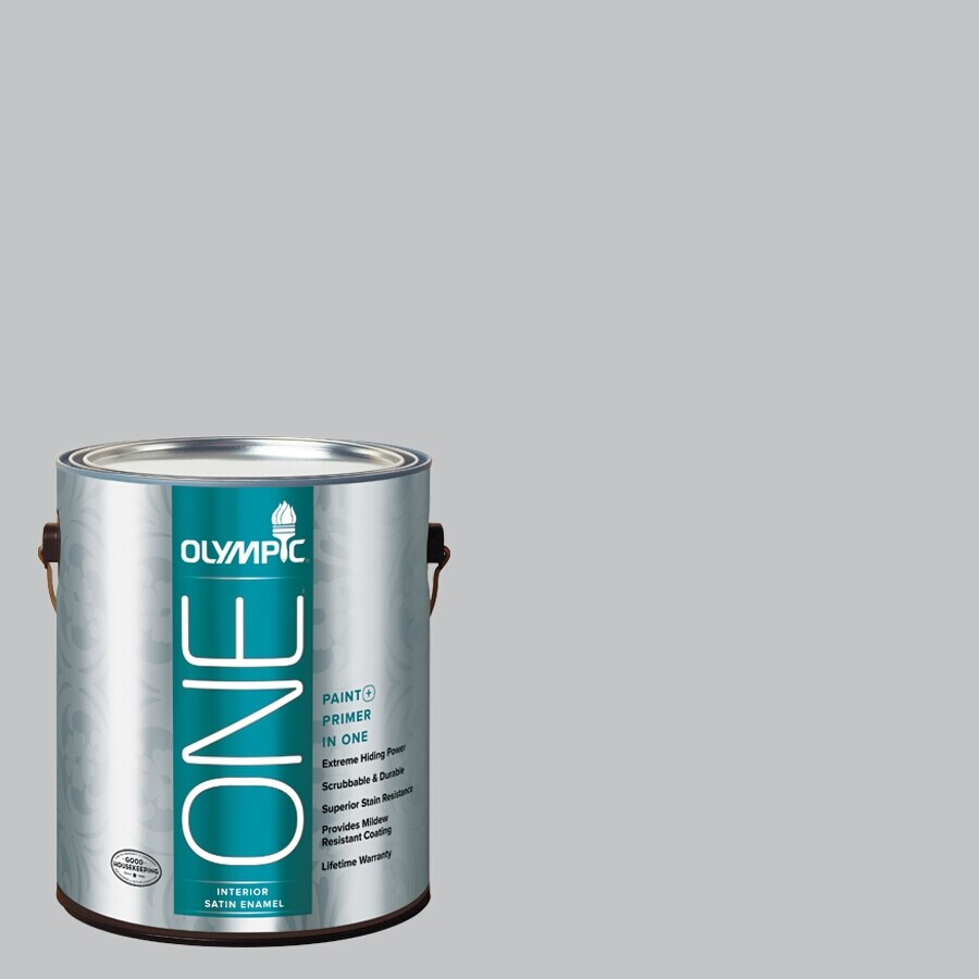 Olympic ONE Secret Passage Satin Latex Interior Paint and Primer In One (Actual Net Contents: 124-fl oz)