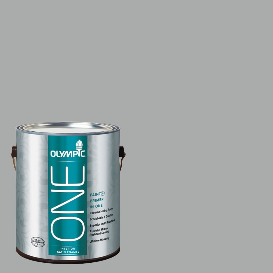 Olympic ONE FlagstONE Satin Latex Interior Paint and Primer In One (Actual Net Contents: 124-fl oz)