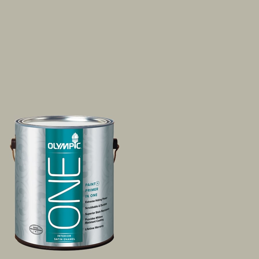 Olympic ONE Sprig Of Ivy Satin Latex Interior Paint and Primer In One (Actual Net Contents: 116-fl oz)