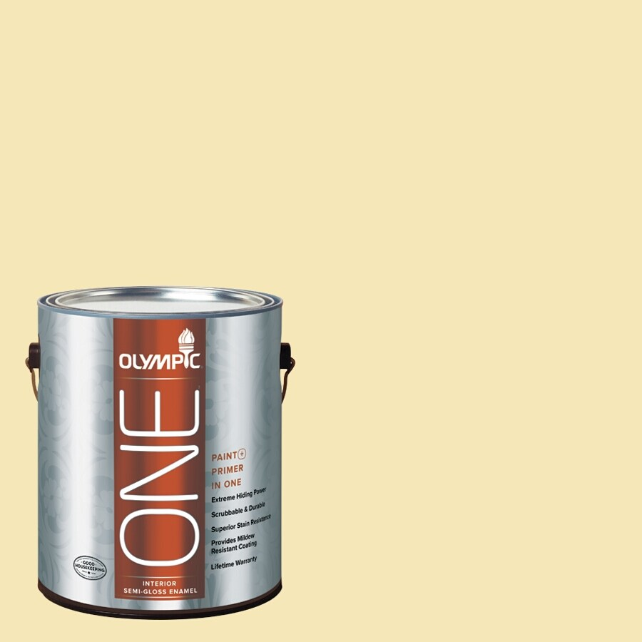 Olympic ONE Butter Semi-Gloss Latex Interior Paint and Primer In One (Actual Net Contents: 124-fl oz)