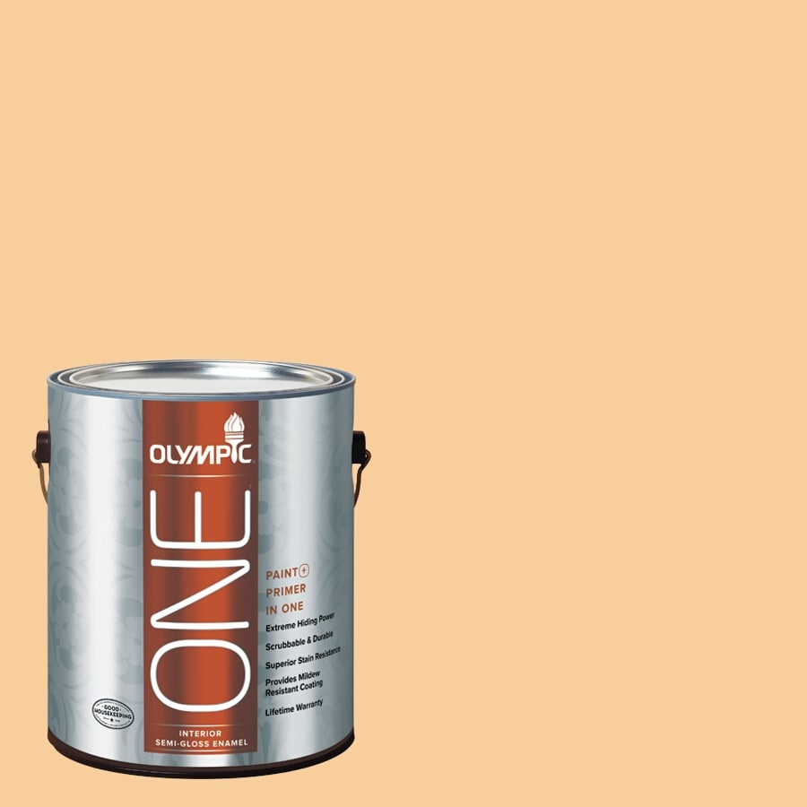 Olympic ONE HONEy Butter Semi-Gloss Latex Interior Paint and Primer In One (Actual Net Contents: 124-fl oz)