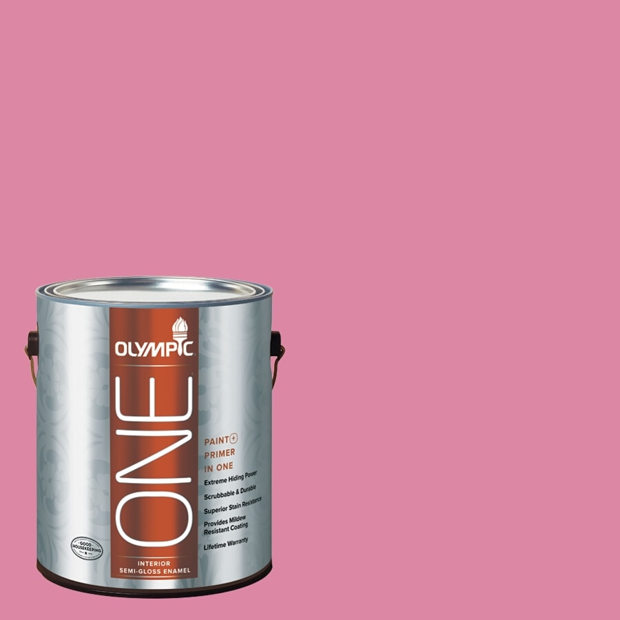 Olympic ONE Rose Glory Semi-Gloss Latex Interior Paint and Primer In One (Actual Net Contents: 116-fl oz)