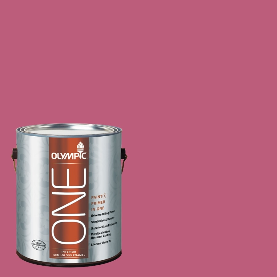 Olympic ONE Panama Rose Semi-Gloss Latex Interior Paint and Primer In One (Actual Net Contents: 114-fl oz)