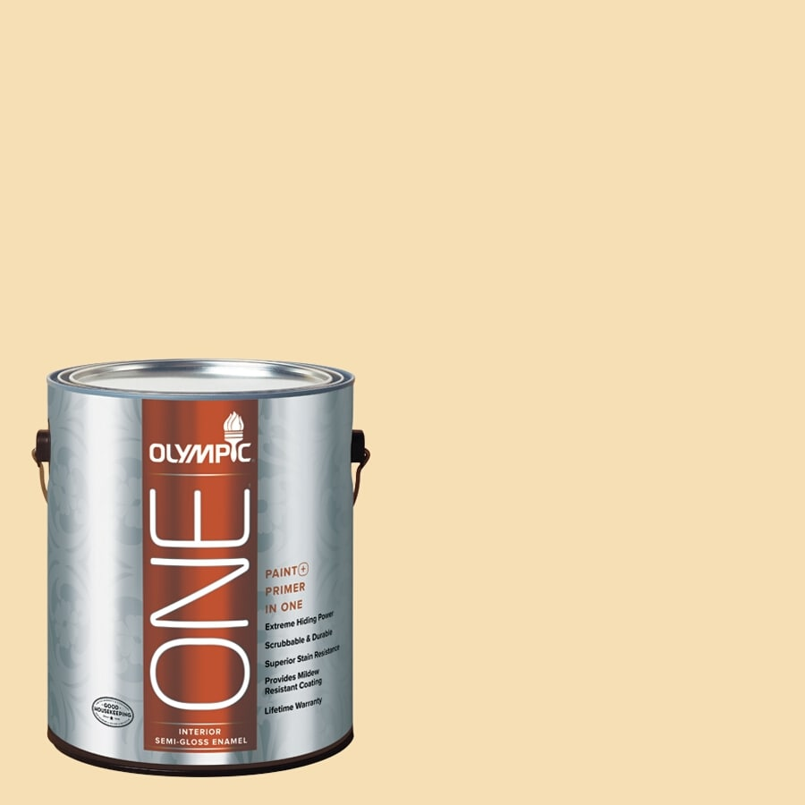 Olympic ONE Cornmeal Semi-Gloss Latex Interior Paint and Primer In One (Actual Net Contents: 124-fl oz)