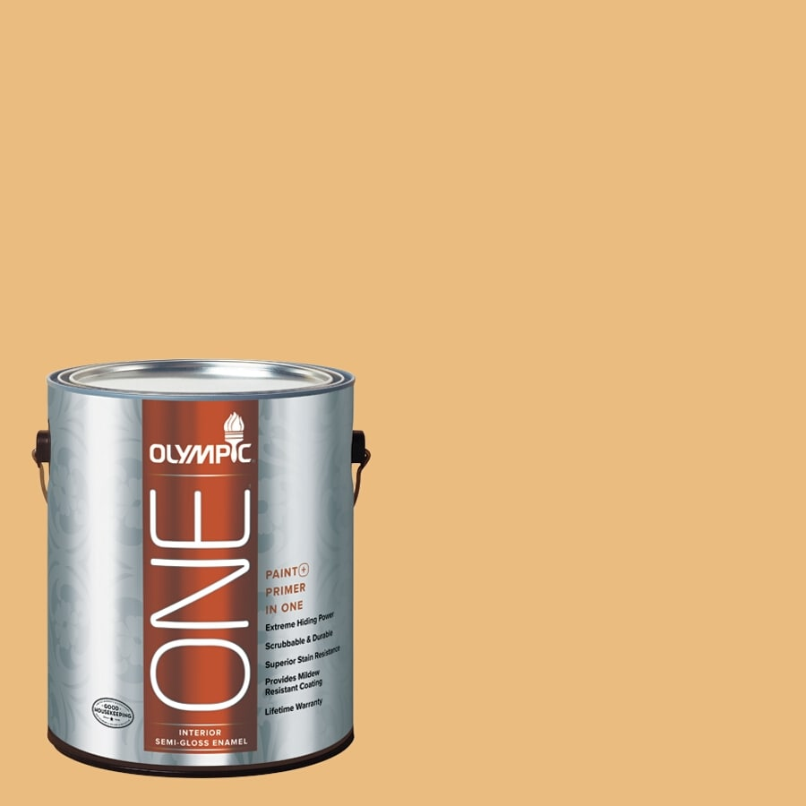 Olympic ONE Gold Ruff Semi-Gloss Latex Interior Paint and Primer In One (Actual Net Contents: 116-fl oz)