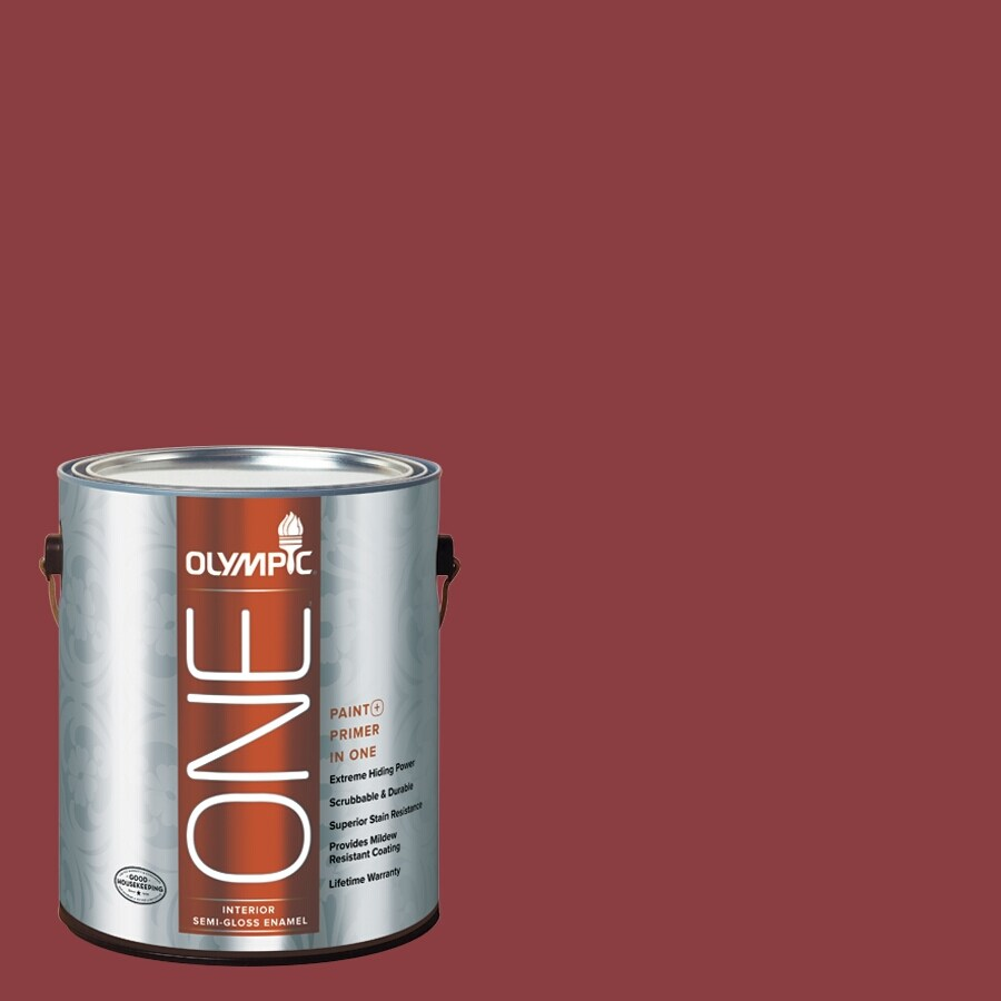Olympic ONE Apple-A-Day Semi-Gloss Latex Interior Paint and Primer In One (Actual Net Contents: 114-fl oz)