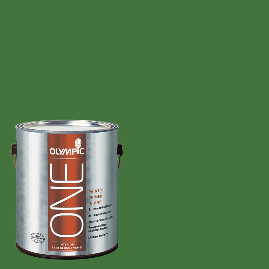 Olympic ONE Bell Pepper Semi-Gloss Latex Interior Paint and Primer In One (Actual Net Contents: 114-fl oz)
