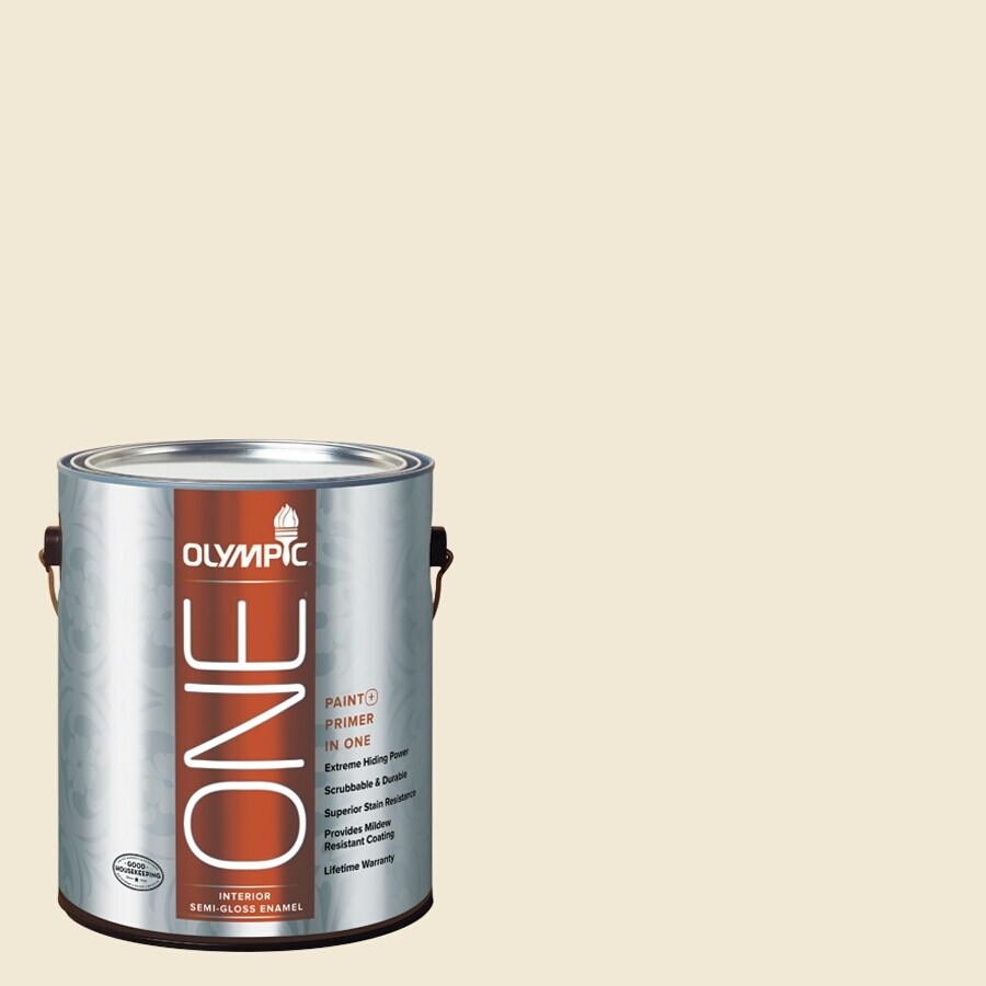 Olympic ONE Adobe White Semi-Gloss Latex Interior Paint and Primer In One (Actual Net Contents: 116-fl oz)