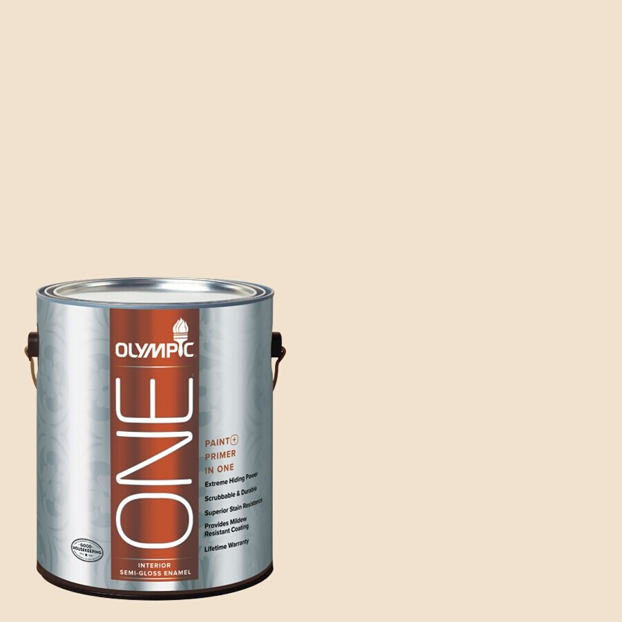Olympic ONE Glazed Pears Semi-Gloss Latex Interior Paint and Primer In One (Actual Net Contents: 124-fl oz)