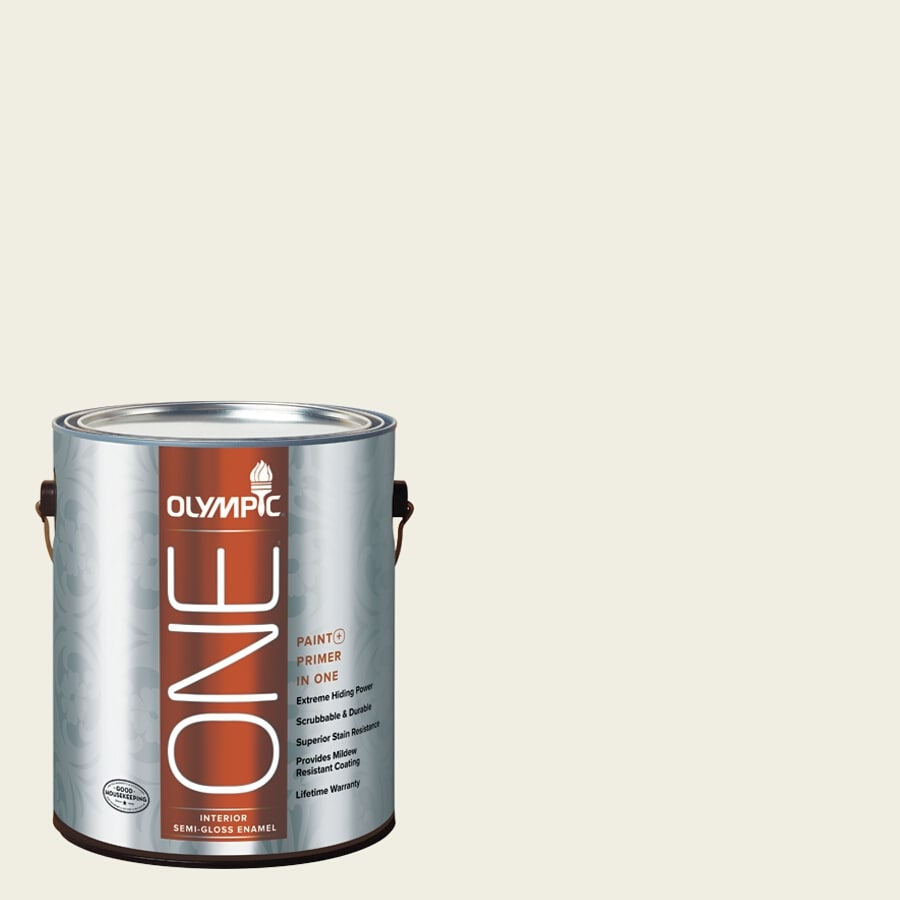 Olympic ONE Crumb Cookie Semi-Gloss Latex Interior Paint and Primer In One (Actual Net Contents: 124-fl oz)