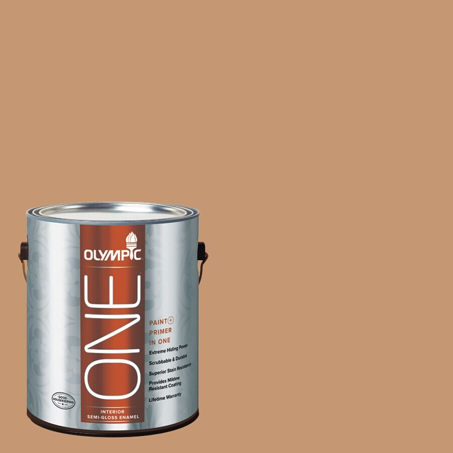 Olympic ONE Doeskin Semi-Gloss Latex Interior Paint and Primer In One (Actual Net Contents: 116-fl oz)