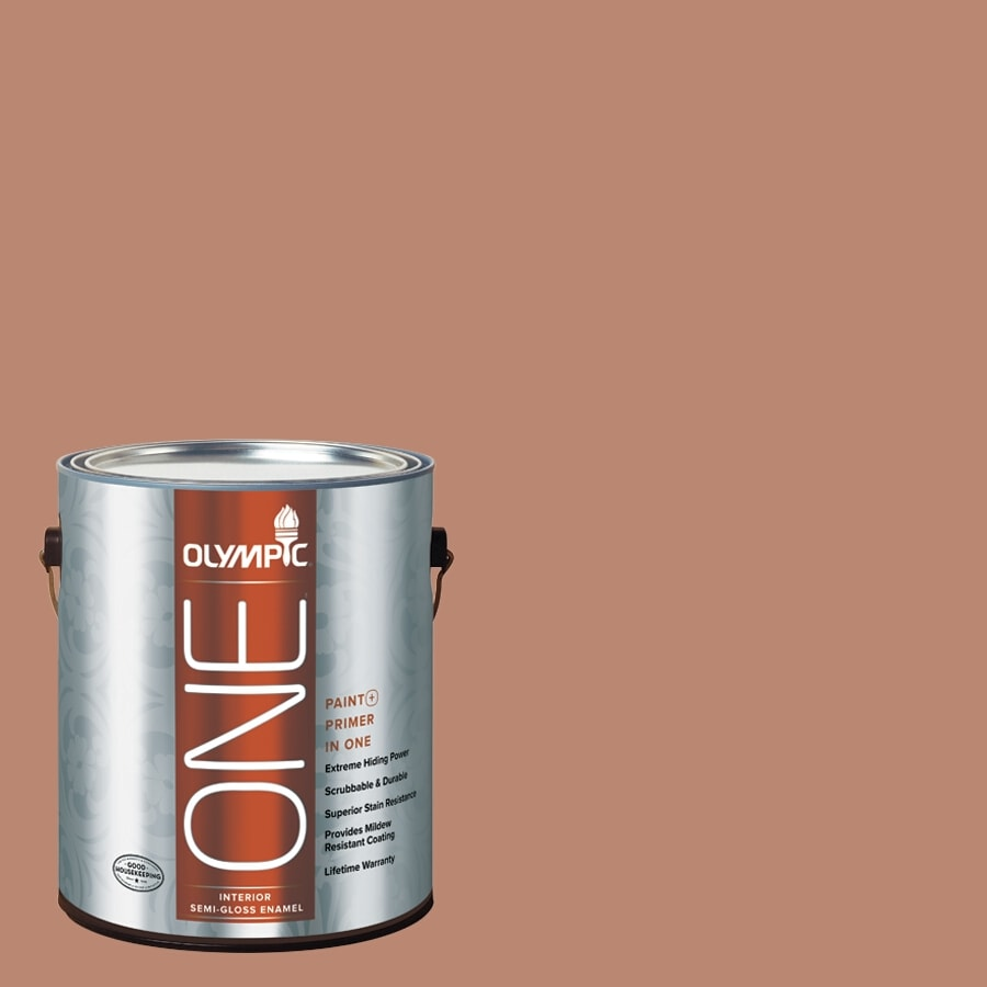 Olympic ONE Terrazzo Tan Semi-Gloss Latex Interior Paint and Primer In One (Actual Net Contents: 116-fl oz)