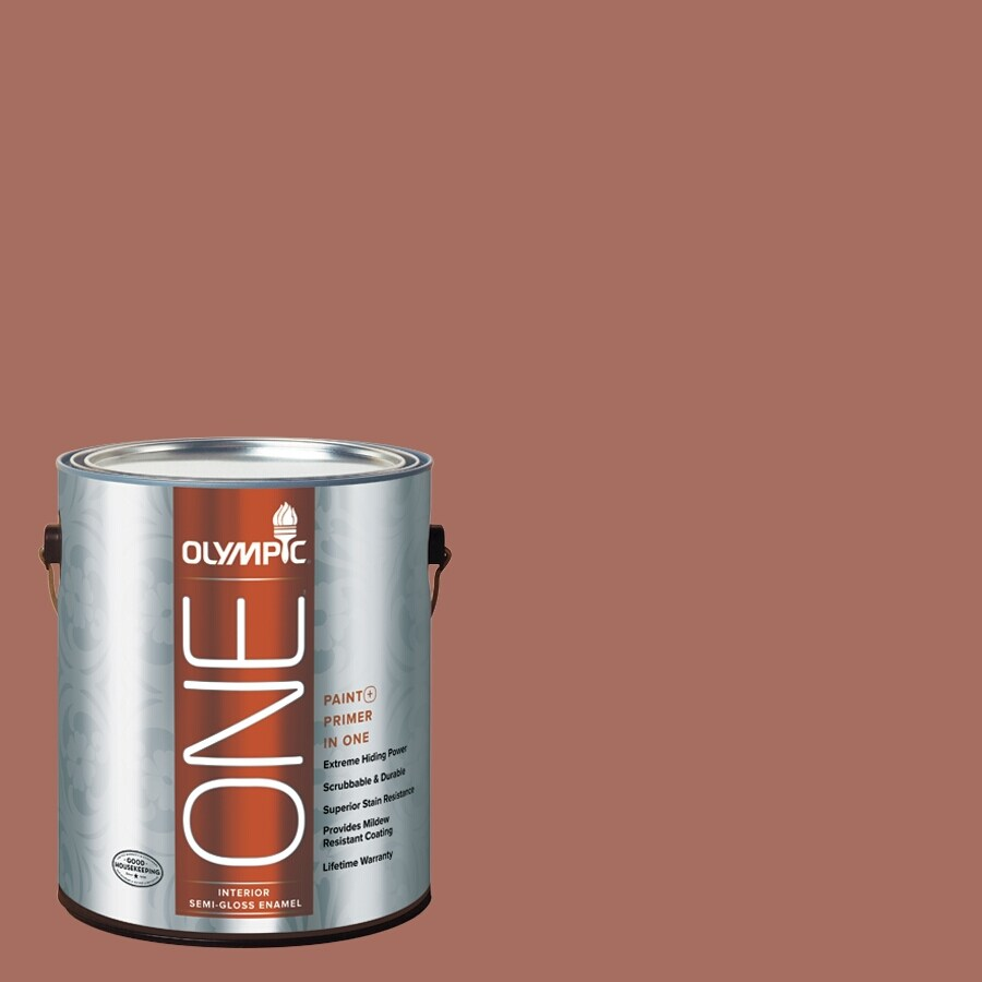 Olympic ONE Amaretto Semi-Gloss Latex Interior Paint and Primer In One (Actual Net Contents: 116-fl oz)