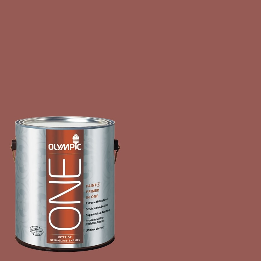 Olympic ONE Fire Weed Semi-Gloss Latex Interior Paint and Primer In One (Actual Net Contents: 114-fl oz)