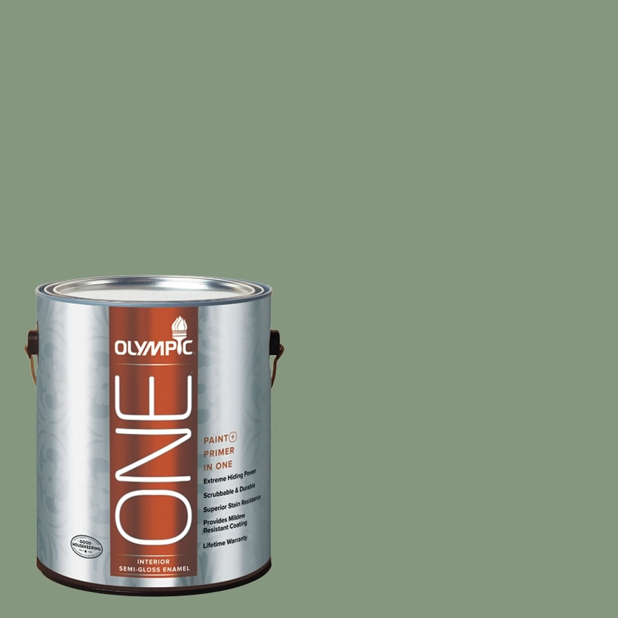 Olympic ONE Mesa Verde Semi-Gloss Latex Interior Paint and Primer In One (Actual Net Contents: 116-fl oz)