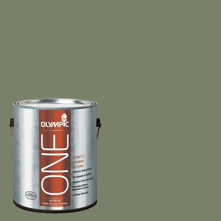Olympic ONE Hidden Meadow Semi-Gloss Latex Interior Paint and Primer In One (Actual Net Contents: 114-fl oz)