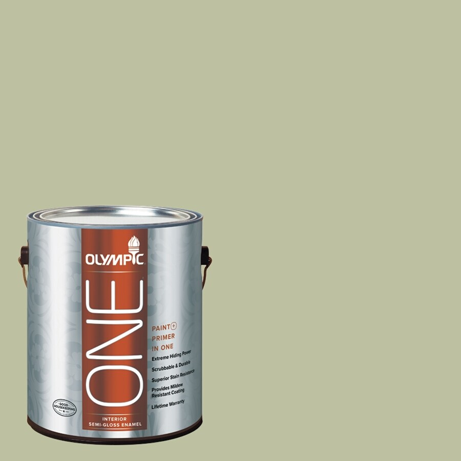 Olympic ONE Quaking Grass Semi-Gloss Latex Interior Paint and Primer In One (Actual Net Contents: 124-fl oz)