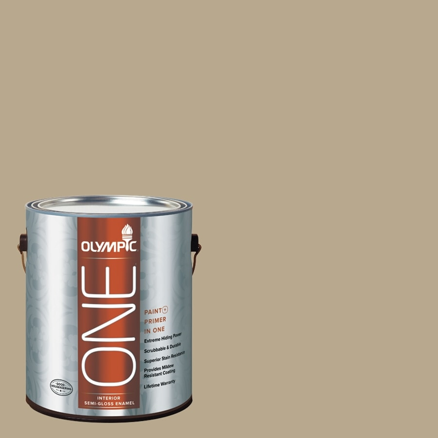 Olympic ONE Prairie Dust Semi-Gloss Latex Interior Paint and Primer In One (Actual Net Contents: 116-fl oz)