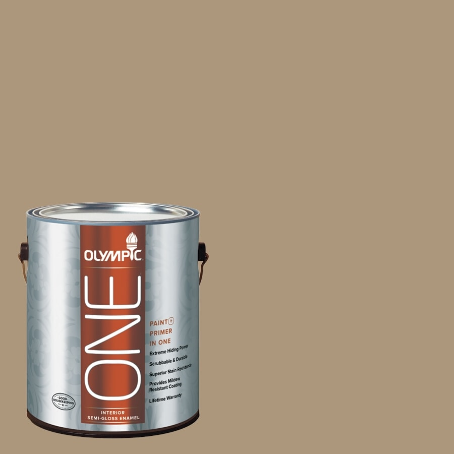 Olympic ONE Stony Creek Semi-Gloss Latex Interior Paint and Primer In One (Actual Net Contents: 116-fl oz)