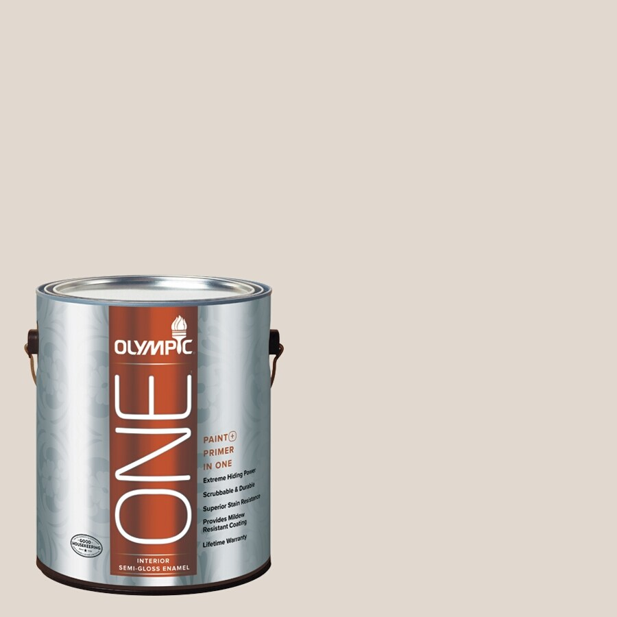 Olympic ONE Tattered Sail Semi-Gloss Latex Interior Paint and Primer In One (Actual Net Contents: 124-fl oz)