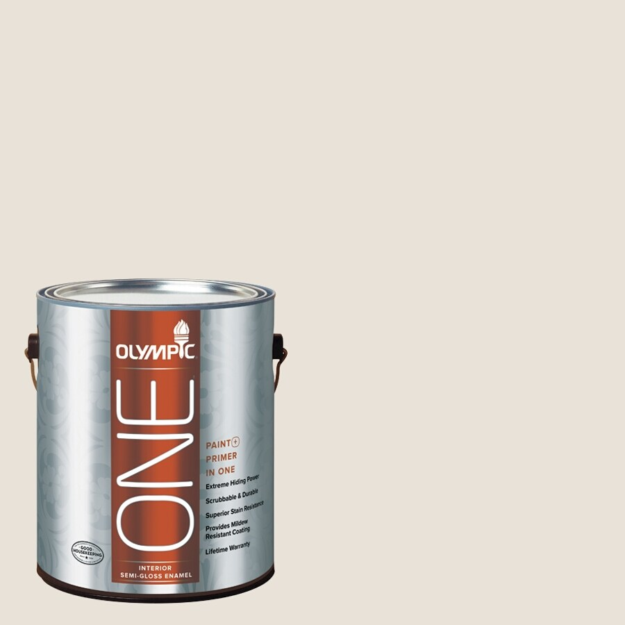 Olympic ONE Diamond Mine Semi-Gloss Latex Interior Paint and Primer In One (Actual Net Contents: 124-fl oz)