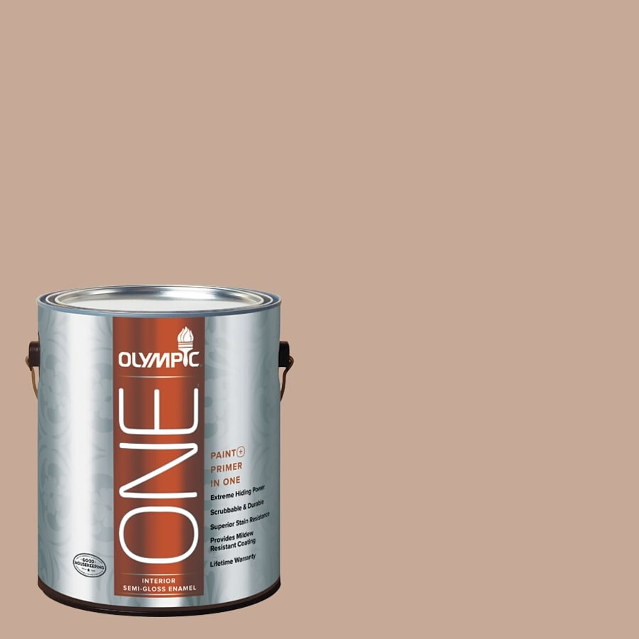 Olympic ONE Puppy Paws Semi-Gloss Latex Interior Paint and Primer In One (Actual Net Contents: 116-fl oz)