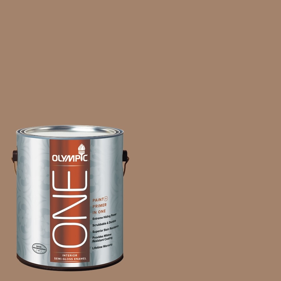 Olympic ONE Iced Tea Semi-Gloss Latex Interior Paint and Primer In One (Actual Net Contents: 116-fl oz)