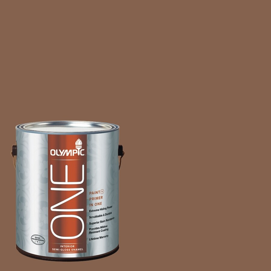 Olympic ONE Oregon Trail Semi-Gloss Latex Interior Paint and Primer In One (Actual Net Contents: 114-fl oz)