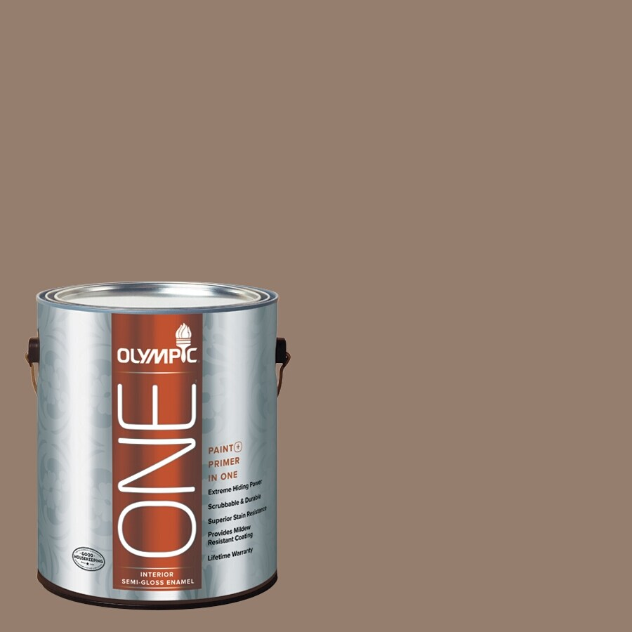 Olympic ONE English Saddle Semi-Gloss Latex Interior Paint and Primer In One (Actual Net Contents: 116-fl oz)