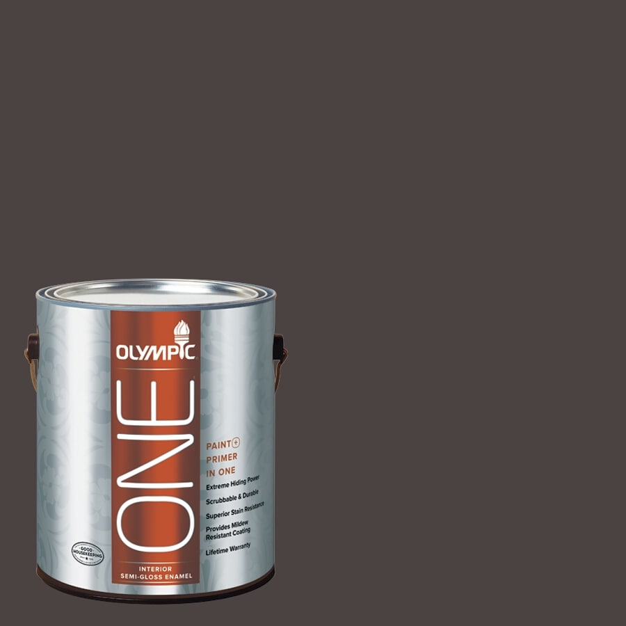 Olympic ONE Phantom Mist Semi-Gloss Latex Interior Paint and Primer In One (Actual Net Contents: 114-fl oz)