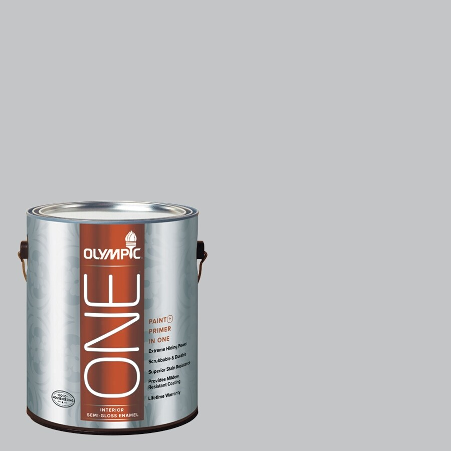 Olympic ONE Secret Passage Semi-Gloss Latex Interior Paint and Primer In One (Actual Net Contents: 124-fl oz)
