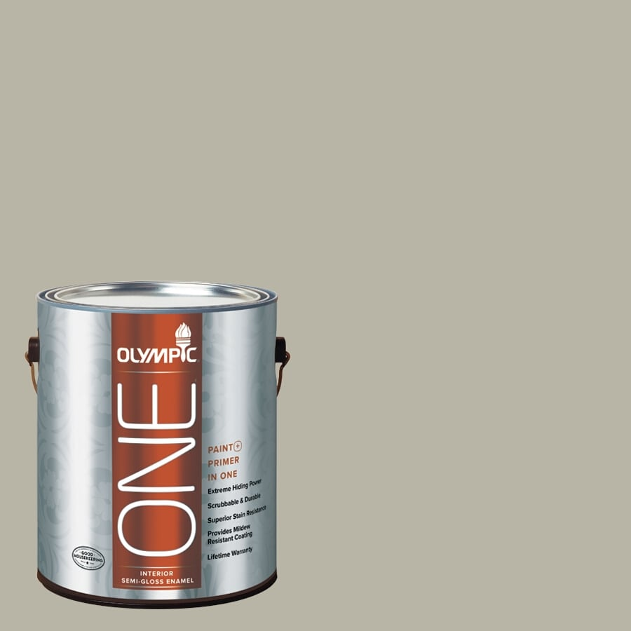 Olympic ONE Sprig Of Ivy Semi-Gloss Latex Interior Paint and Primer In One (Actual Net Contents: 116-fl oz)