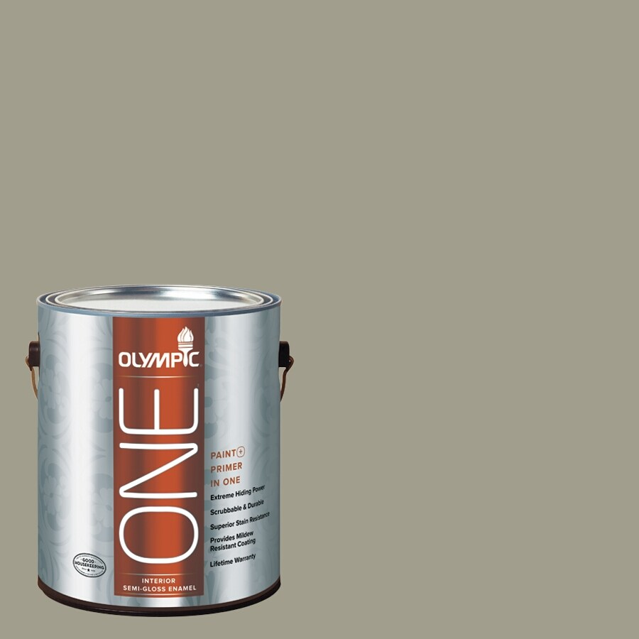 Olympic ONE Smoky Slate Eggshell Latex Interior Paint and Primer In One (Actual Net Contents: 116-fl oz)