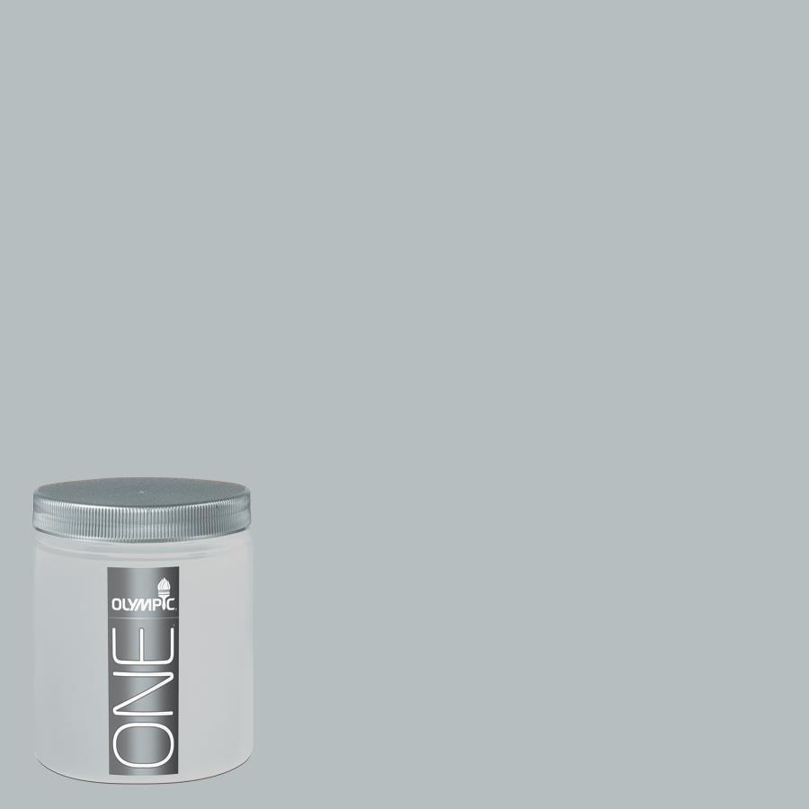 Olympic 8-oz Gray Frost Interior Satin Paint Sample