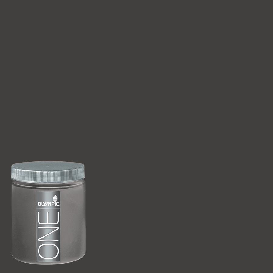 Olympic 8-oz Black Magic Interior Satin Paint Sample