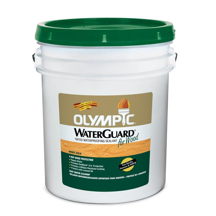 Olympic 5-Gallon Honey Gold Toner Exterior Stain