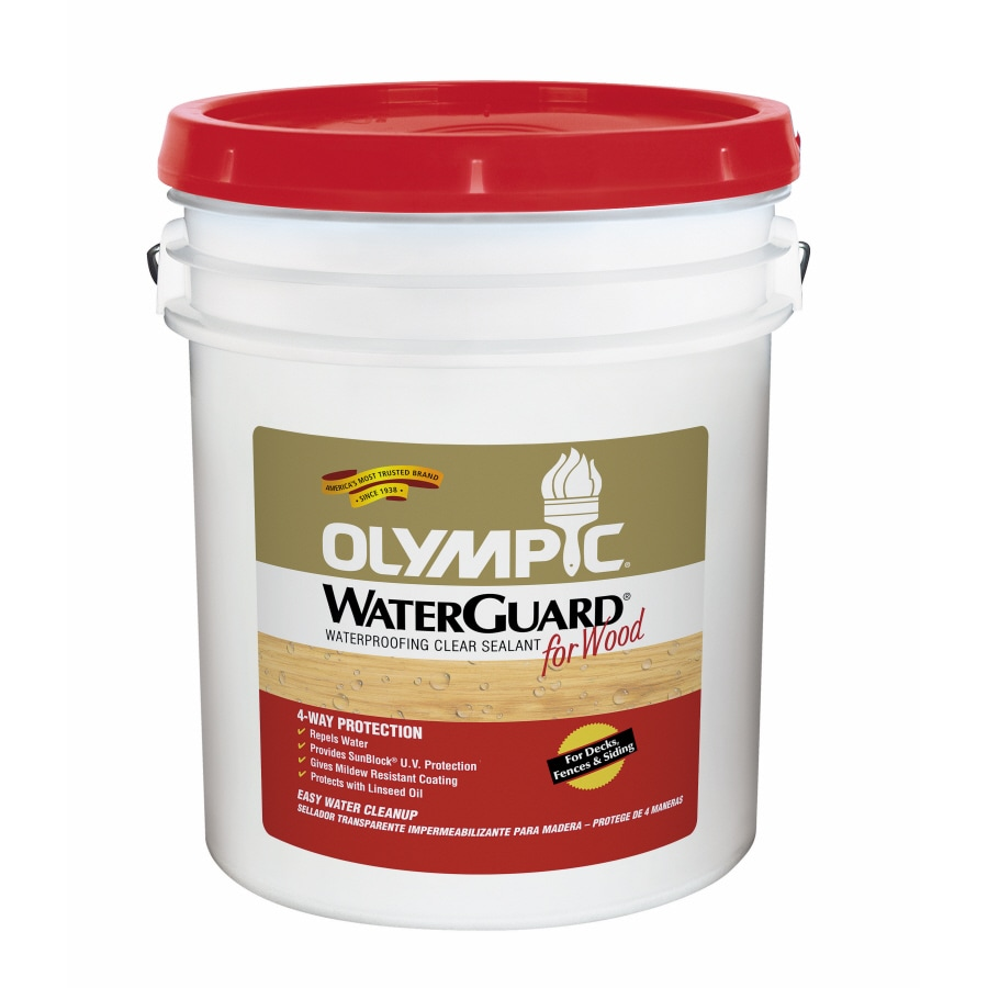 Olympic 5-Gallon Clear Clear Exterior Stain