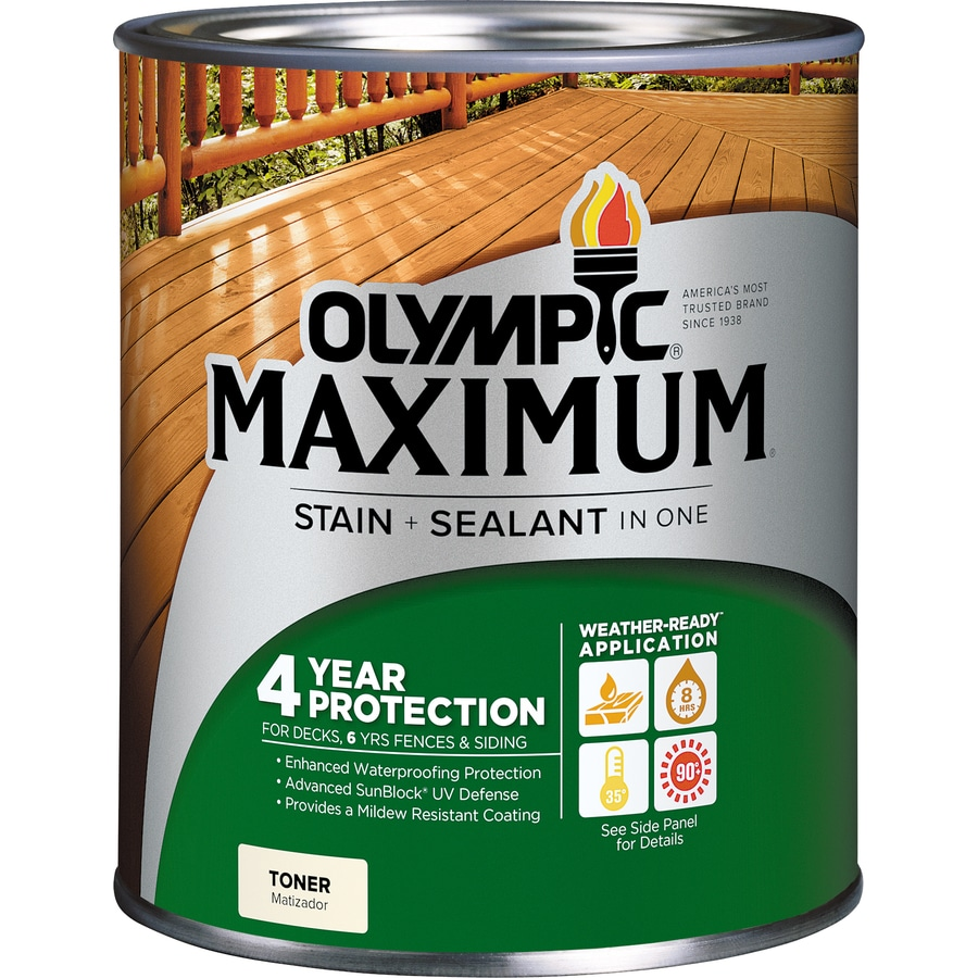 Olympic Maximum Canyon Brown Toner Exterior Stain (Actual Net Contents: 32-fl oz)