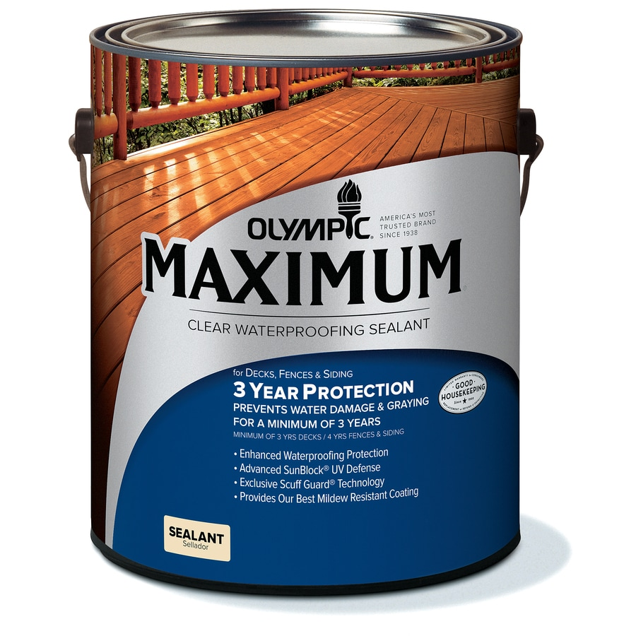 Olympic Maximum Clear Clear Exterior Stain (Actual Net Contents: 128-fl oz)