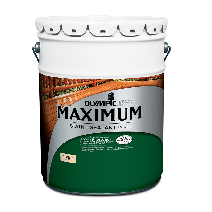 Olympic Maximum Honey Gold Semi-Transparent Exterior Stain (Actual Net Contents: 640-fl oz)